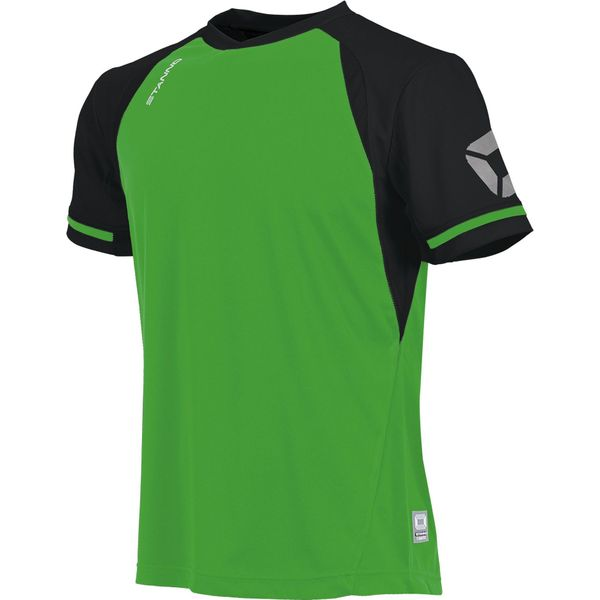 Stanno Liga Shirt Korte Mouw Kinderen - Bright Green / Zwart