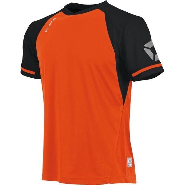 Stanno Liga Shirt Korte Mouw - Shocking Orange / Zwart