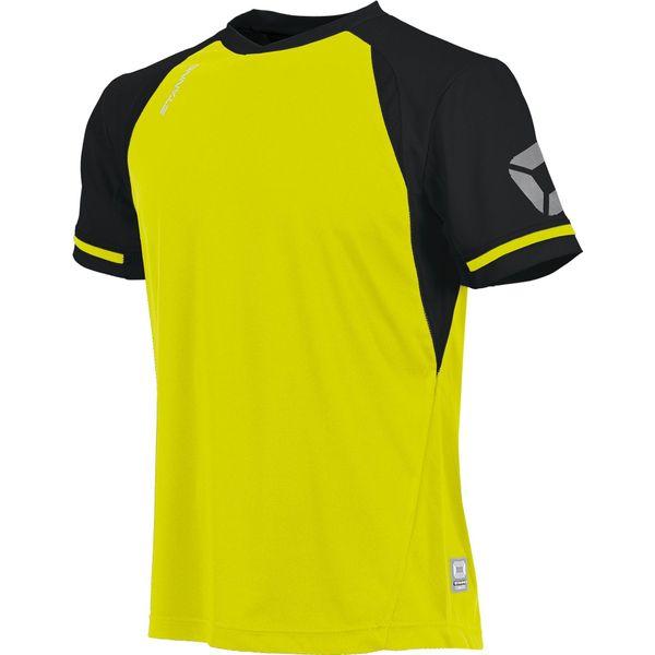 Stanno Liga Shirt Korte Mouw Heren - Fluogeel / Zwart