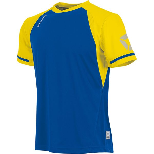 Stanno Liga Shirt Korte Mouw - Royal / Geel