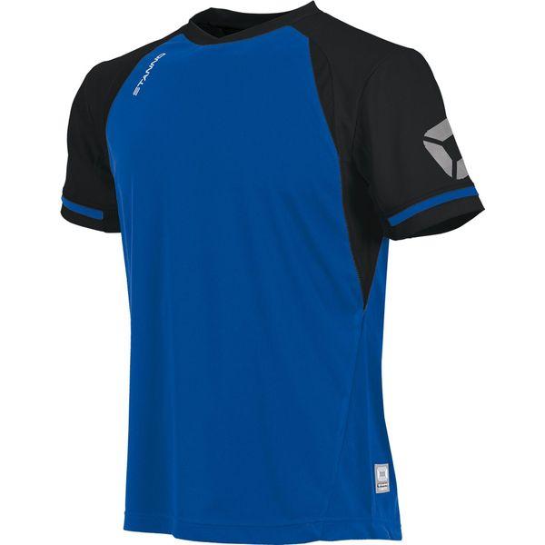 Stanno Liga Shirt Korte Mouw - Royal / Zwart