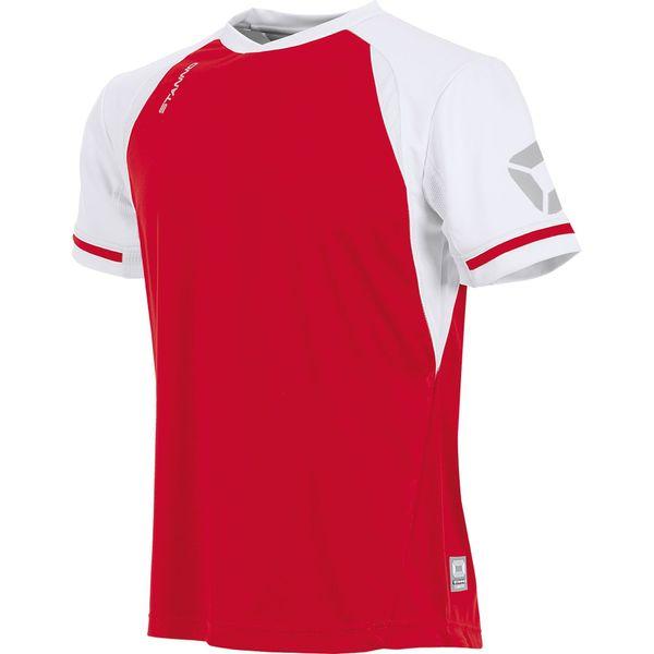 Stanno Liga Shirt Korte Mouw - Rood / Wit