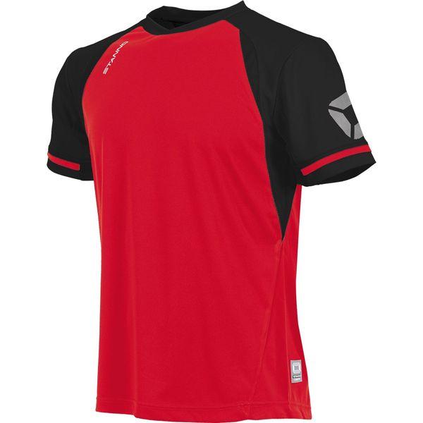 Stanno Liga Shirt Korte Mouw Heren - Rood / Zwart