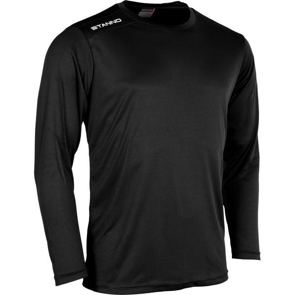 Stanno Field Voetbalshirt Lange Mouw - Zwart