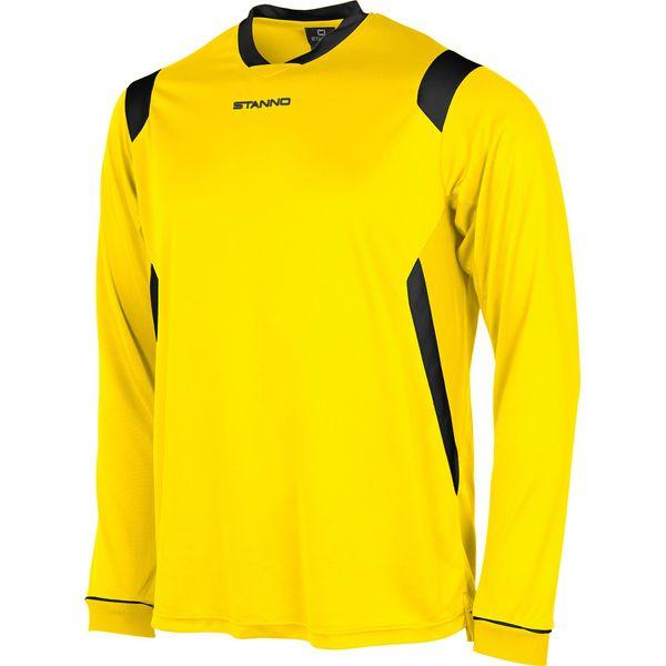 Stanno Arezzo Voetbalshirt Lange Mouw - Geel / Zwart