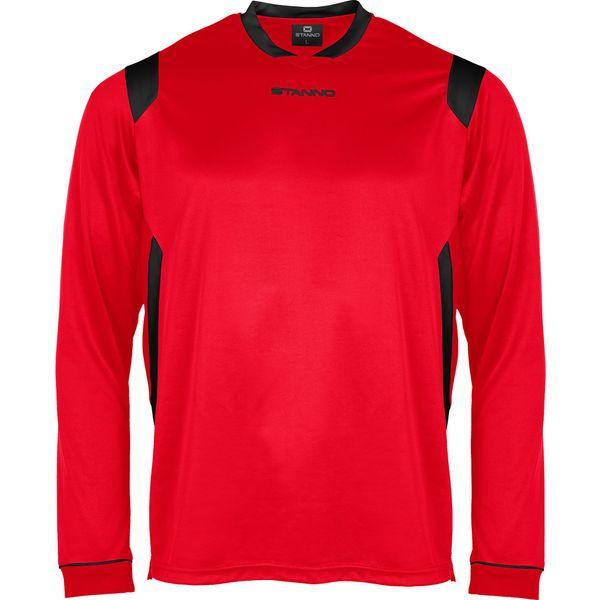 Stanno Arezzo Voetbalshirt Lange Mouw - Rood / Zwart