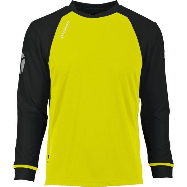 Stanno Liga Voetbalshirt Lange Mouw - Fluogeel / Zwart