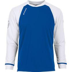 Voorvertoning: Stanno Liga Voetbalshirt Lange Mouw Kinderen - Royal / Wit