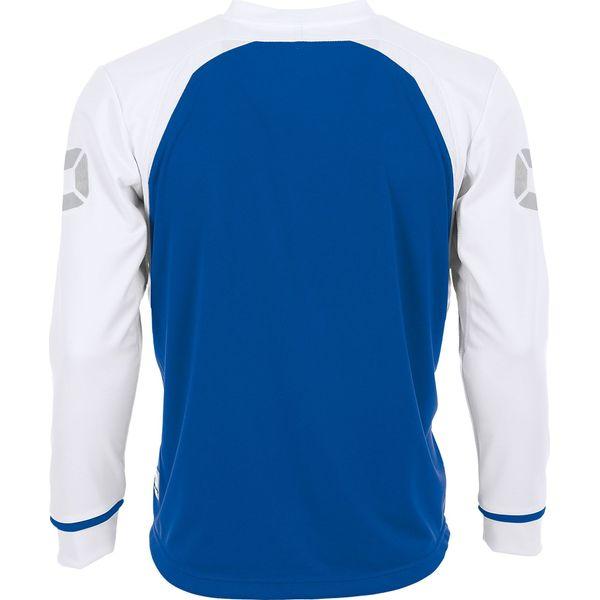 Stanno Liga Voetbalshirt Lange Mouw - Royal / Wit