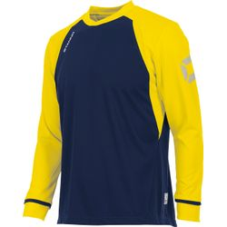 Voorvertoning: Stanno Liga Voetbalshirt Lange Mouw - Marine / Geel