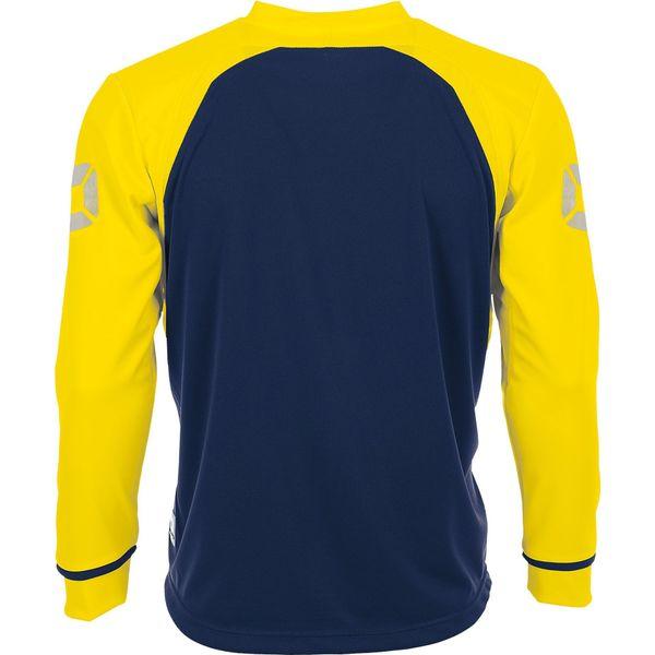 Stanno Liga Voetbalshirt Lange Mouw - Marine / Geel