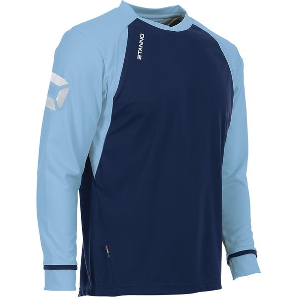Stanno Liga Voetbalshirt Lange Mouw Kinderen - Marine / Hemelsblauw
