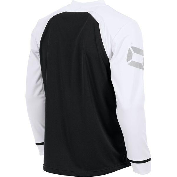 Stanno Liga Voetbalshirt Lange Mouw - Zwart / Wit