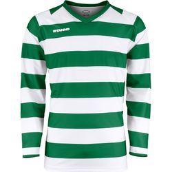 Stanno Lisbon Voetbalshirt Lange Mouw Heren - Wit / Groen