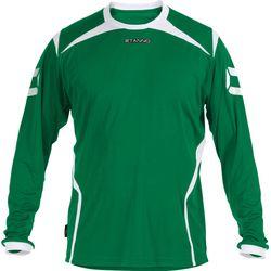 Stanno Torino Voetbalshirt Lange Mouw Kinderen - Groen / Wit