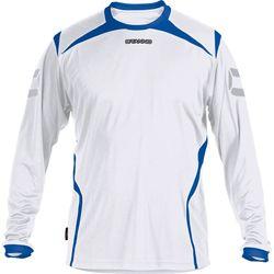 Stanno Torino Voetbalshirt Lange Mouw - Wit / Royal