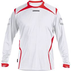 Stanno Torino Voetbalshirt Lange Mouw Heren - Wit / Rood