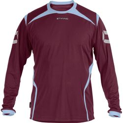 Stanno Torino Voetbalshirt Lange Mouw Heren - Bordeaux / Lichtblauw