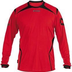 Stanno Torino Voetbalshirt Lange Mouw Kinderen - Rood / Zwart