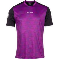 Voorvertoning: Stanno Pulse Shirt Korte Mouw - Paars / Zwart