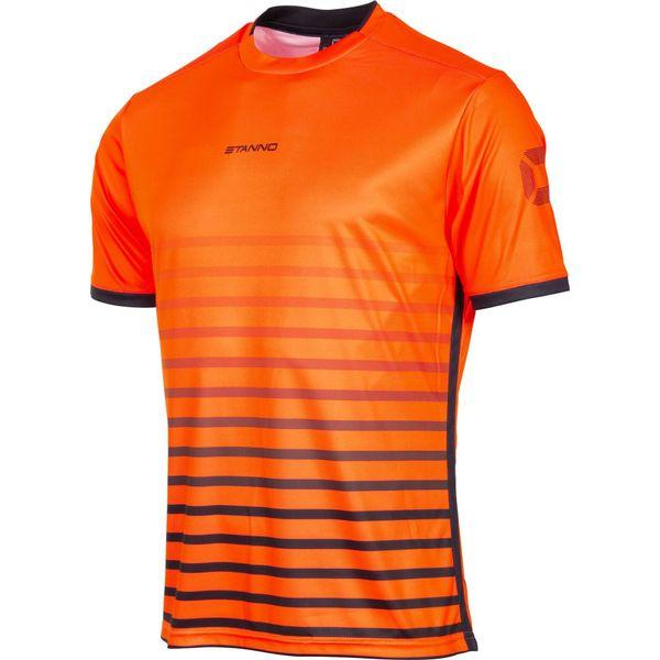Stanno Fusion Shirt Korte Mouw Kinderen - Fluo Oranje / Zwart