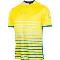 Stanno Fusion Shirt Korte Mouw Heren - Geel / Royal
