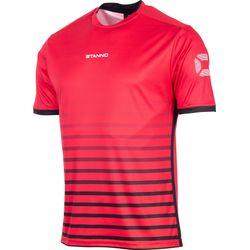 Stanno Fusion Shirt Korte Mouw Kinderen - Rood / Zwart