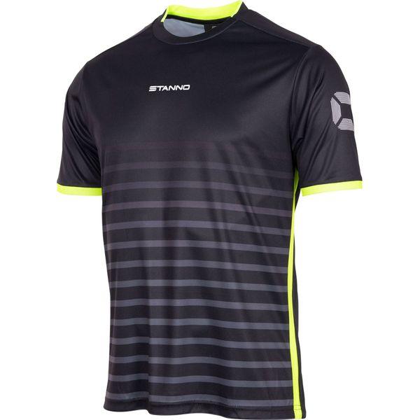 Stanno Fusion Shirt Korte Mouw Kinderen - Zwart / Fluogeel