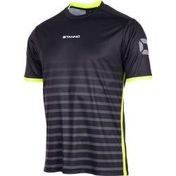 Stanno Fusion Shirt Korte Mouw Heren - Zwart / Fluogeel