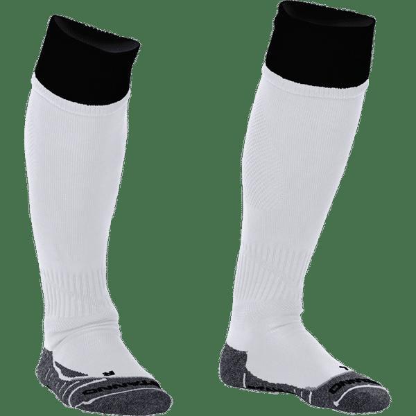 Stanno Combi Chaussettes De Football - Blanc / Noir