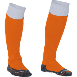 Stanno Combi Chaussettes De Football - Orange / Blanc