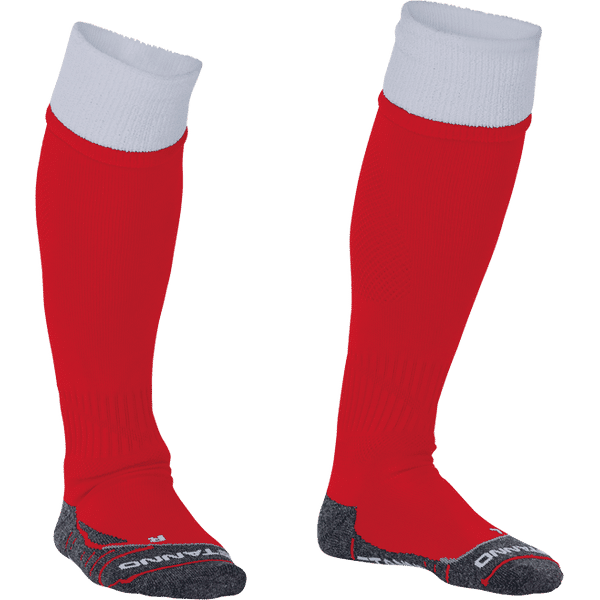 Stanno Combi Chaussettes De Football - Rouge / Blanc