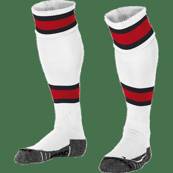 Stanno League Chaussettes De Football - Blanc / Rouge / Noir
