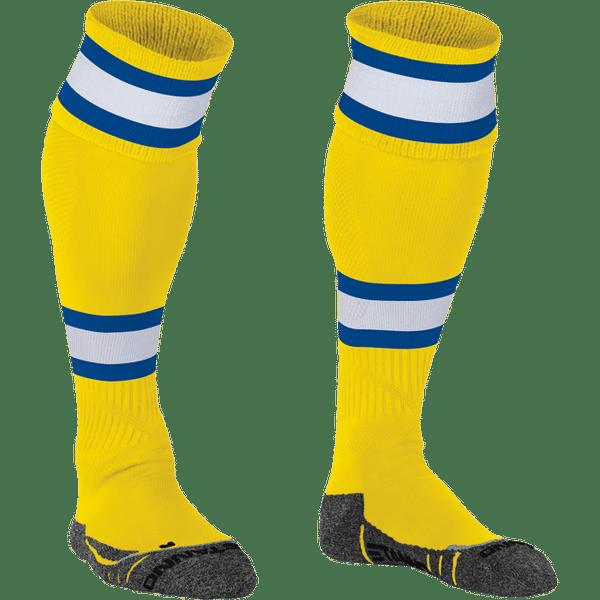 Stanno League Chaussettes De Football - Jaune / Blanc / Royal