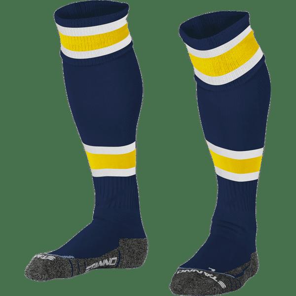Stanno League Chaussettes De Football - Marine / Jaune / Blanc