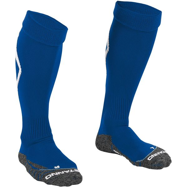 Stanno Forza Chaussettes De Football - Blanc / Royal