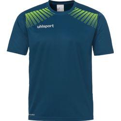 Uhlsport Goal T-Shirt Heren - Petrol / Flashgreen