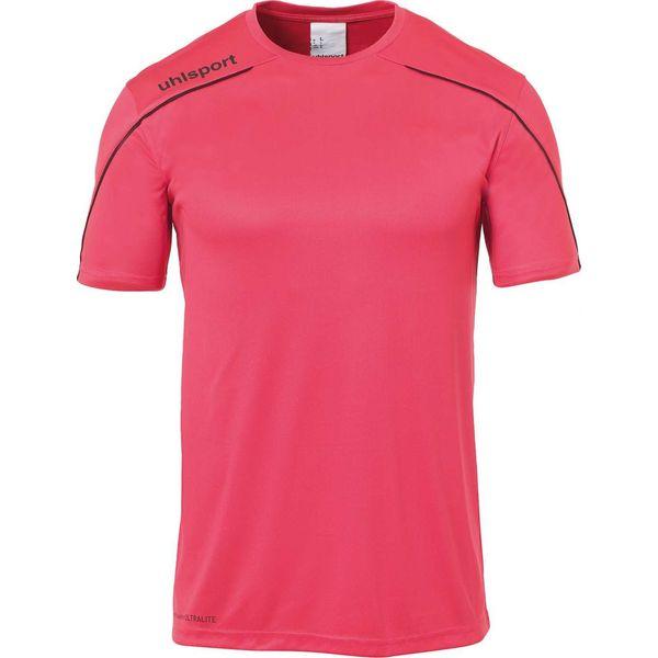 Uhlsport Stream 22 Shirt Korte Mouw Kinderen - Roze / Zwart